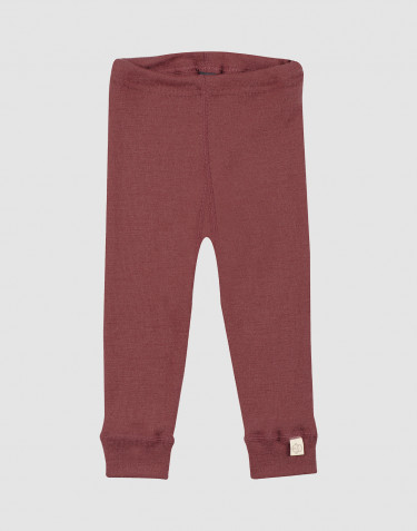 Baby merino wool leggings- rouge