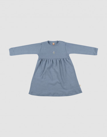 Baby merino wool dress- Blue