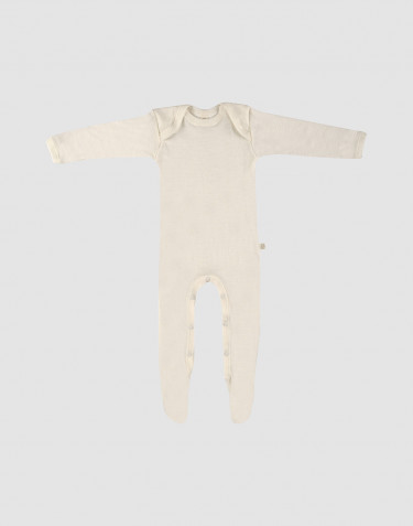 Baby merino wool sleepsuit- nature