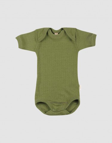 Baby merino wool short sleeve bodysuit