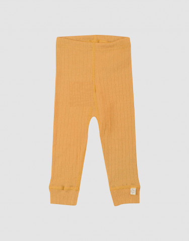 Baby ribbed merino wool leggings- yellow