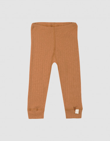 Baby ribbed wool leggings- Caramel