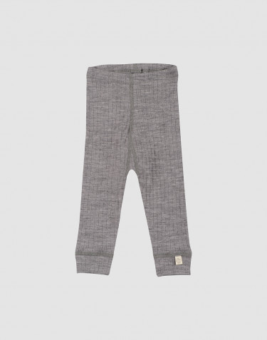 Baby ribbed leggings- grey melange
