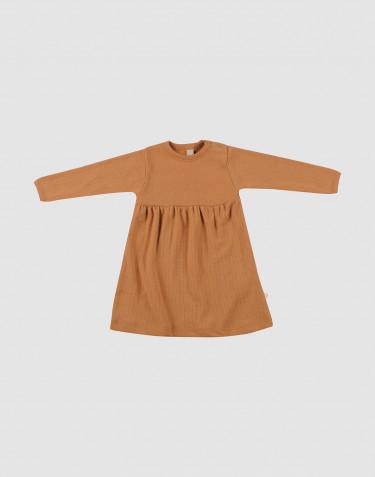 Baby ribbed wool dress- Caramel