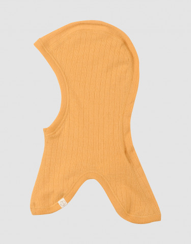 Baby ribbed merino wool balaclavas hat- yellow