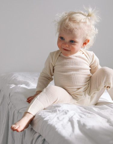 Baby merino wool one-piece