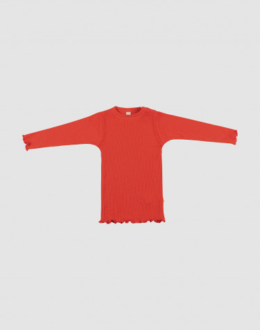 Baby merino wool top with frilled edges