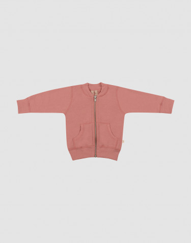 Baby wool terry jacket- Dark Pink