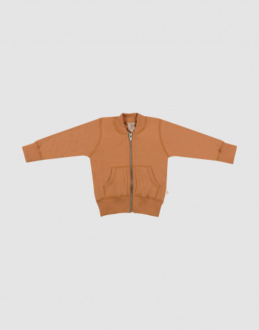 Baby wool terry jacket- Caramel