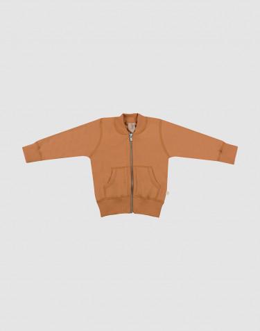 Baby wool terry jacket- Caramel