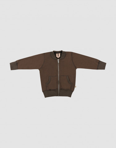 Baby wool terry jacket- Dark Chocolate