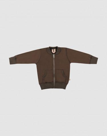 Baby wool terry jacket- Dark Chocolate