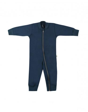 Baby wool terry onepiece- dark petrol blue