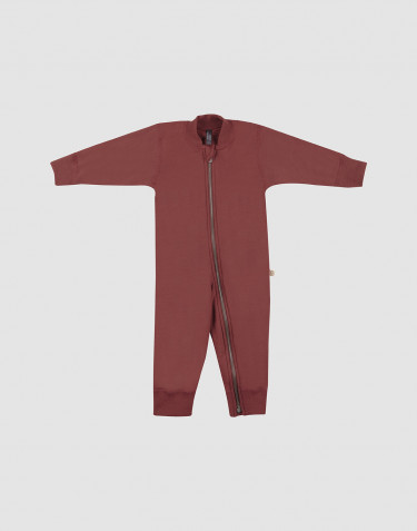 Baby wool terry onepiece- rouge