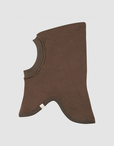 Wool terry balaclava- Dark Chocolate