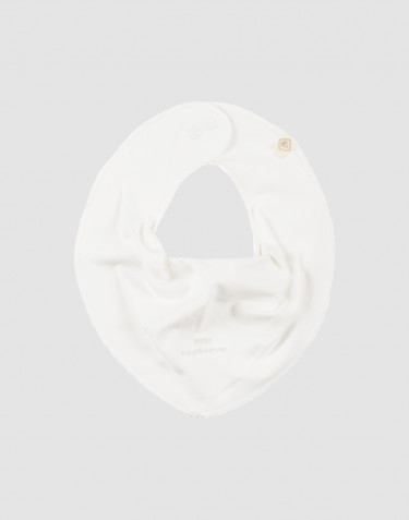 Baby natural cotton bib- white