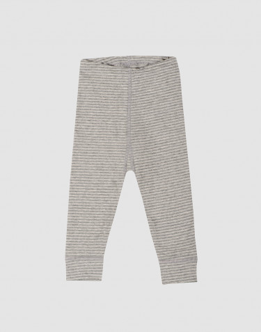 Baby organic cotton long johns- grey stripe