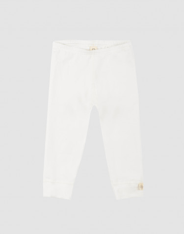 Baby natural cotton leggings- white