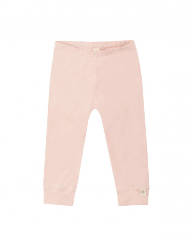 Baby natural cotton leggings- pink