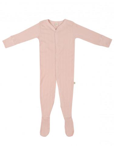 Baby organic cotton sleepsuit- soft pink
