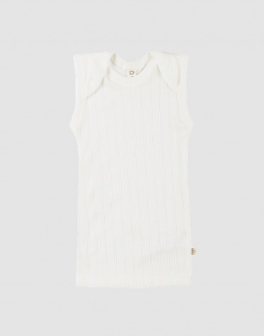 Baby natural cotton tank top- white