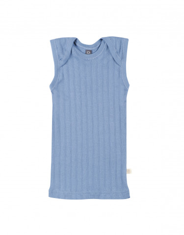 Baby natural cotton tank top- blue