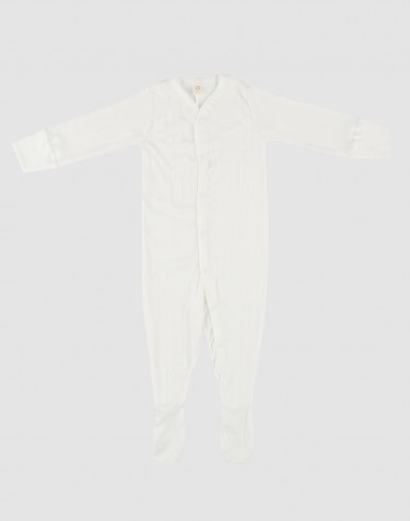 Baby organic cotton sleepsuit- white