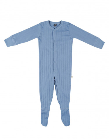 Baby organic cotton sleepsuit- blue