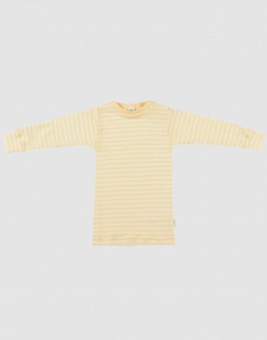 Baby Organic Wool/Silk Long Sleeve Top- Light Yellow/ Nature