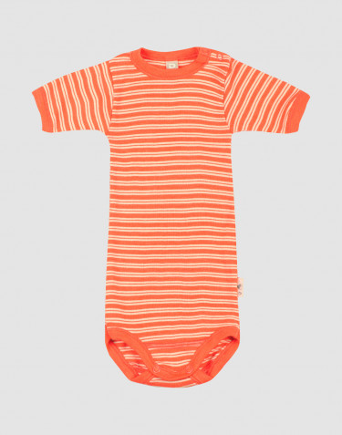 Baby merino wool/silk short sleeve bodysuit