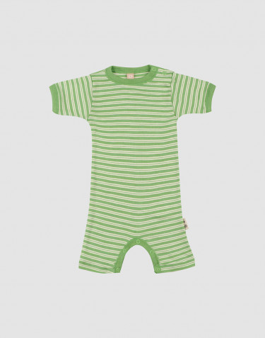Baby merino wool/silk summer bodysuit
