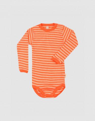 Baby merino wool/silk long sleeve bodysuit