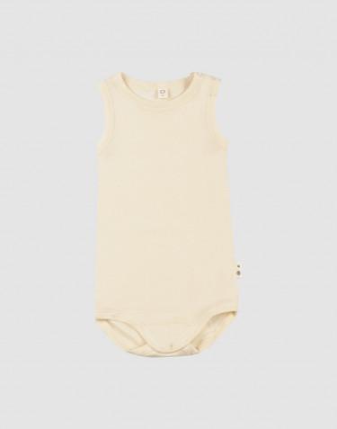 Baby merino wool/silk sleeveless bodysuit