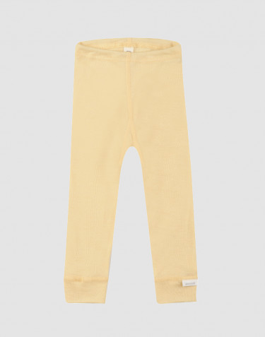 Baby Organic Wool/Silk Leggings- Light Yellow