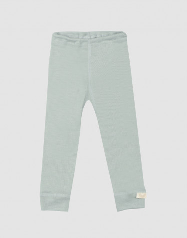 Baby organic wool/silk leggings- Pastel Green