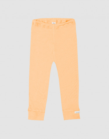 Baby organic wool/silk leggings- apricot