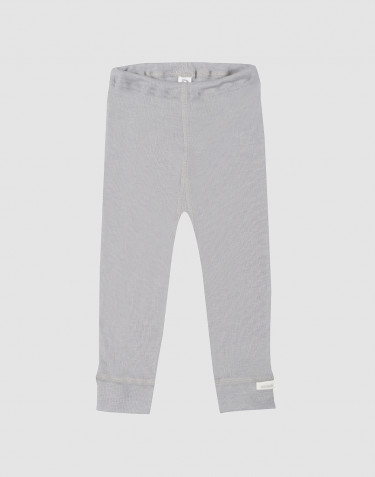 Baby organic wool/silk leggings- grey