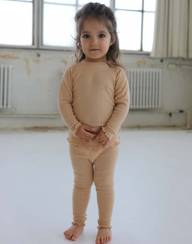 Baby merino wool/silk pointelle leggings