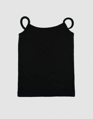 Girls' cotton top- black