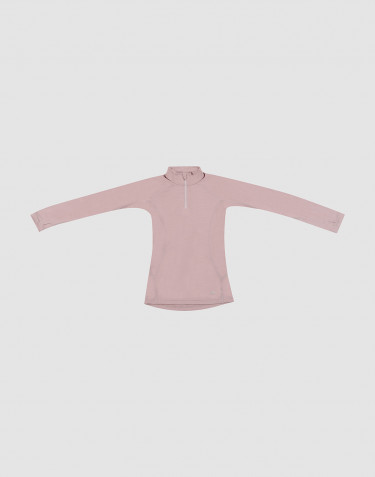 Children's exclusive merino wool zip top- Lilac