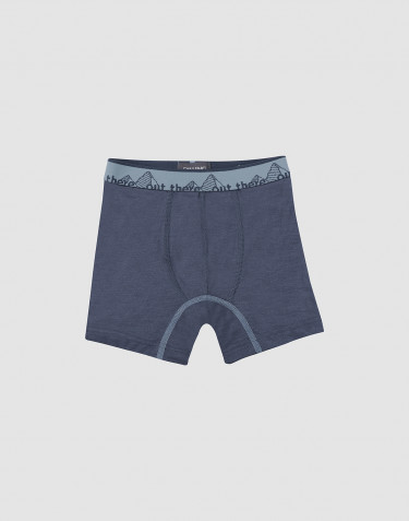 Children's exclusive merino wool boxer shorts- Blue Grey