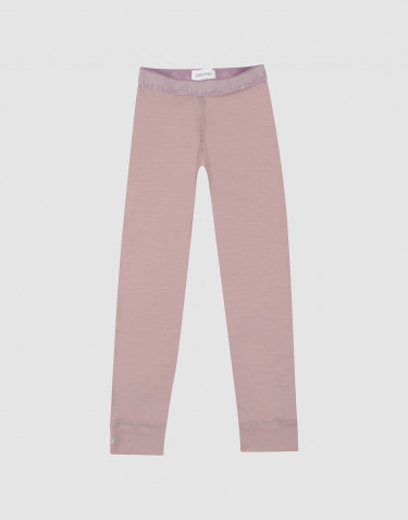 Children's exclusive natural merino wool leggings- Lilac