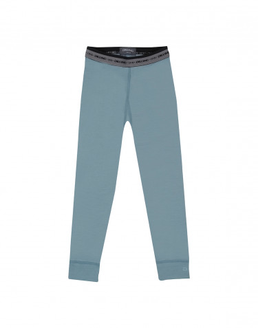Children's exclusive merino wool leggings- Mineral blue