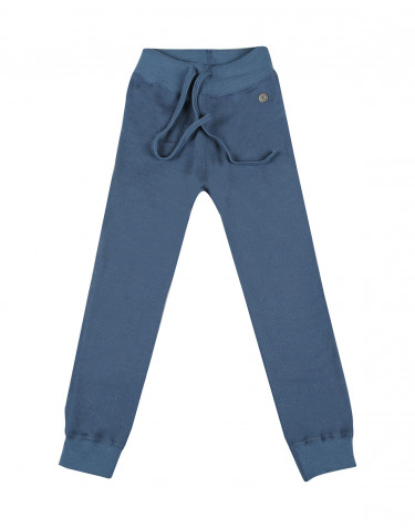Children's wool terry trousers- china blue