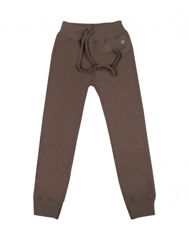 Children's wool terry trousers- fudge
