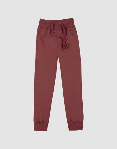 Children's wool terry trousers- rouge