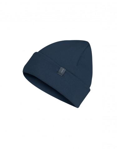 Children's wool terry hat- dark petrol blue