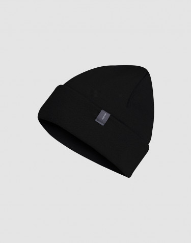 Children's wool terry hat- black
