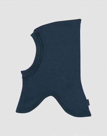 Children's wool terry slip hat- dark petrol blue