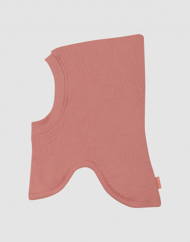 Children's wool terry balaclava- Dark Pink